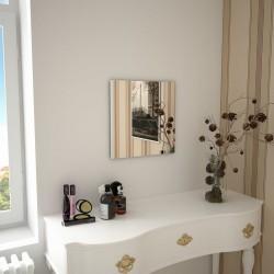 stradeXL Lustro ścienne, 40 x 40 cm, kwadratowe, szklane