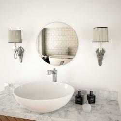 stradeXL Wall Mirror 40 cm Round Glass