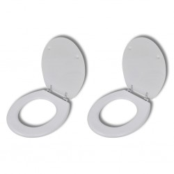 stradeXL Toilet Seats with Lids 2 pcs MDF White