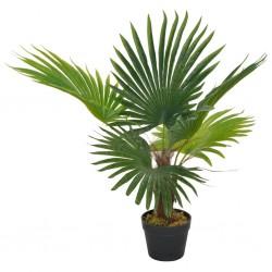 stradeXL Sztuczna palma z doniczką, zielony, 70 cm