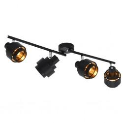 stradeXL Lampa z 4 reflektorami, czarna, E14