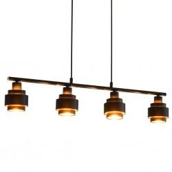 stradeXL Lampa sufitowa, czarna, 82 cm, E14
