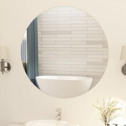 stradeXL Frameless Mirror Round 90 cm Glass