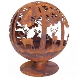 Esschert Design Ozdobne palenisko ogrodowe 57,5x57,5x66 cm rdzawy kolor FF261