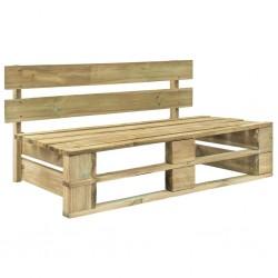 stradeXL Ogrodowa ławka z palet, drewno