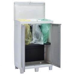 stradeXL Garden Dustbin with 3 Bags Light Grey 65x38x102 cm