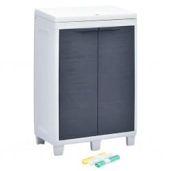 stradeXL Ogrodowy pojemnik do segregacji odpadów + 3 worki, 65x38x102 cm