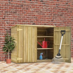 stradeXL Garden Tool Shed 135x60x123 cm Impregnated Pinewood