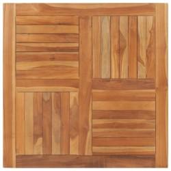 stradeXL Blat stołu, lite drewno tekowe, kwadratowy, 90x90x2,5 cm