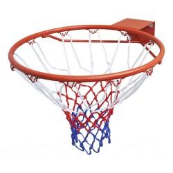 stradeXL Zestaw do koszykówki, obręcz z siatką, pomarańczowy, 45 cm