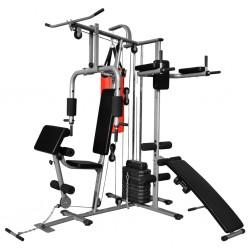 stradeXL Wielozadaniowa domowa siłownia z workiem treningowym, 65 kg