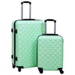 stradeXL Zestaw twardych walizek na kółkach, 2 szt., miętowy, ABS