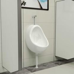 stradeXL Pisuar wiszący z zaworem spłukującym, ceramiczny, biały