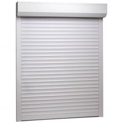stradeXL Roleta zewnętrzna, aluminiowa, 100 x 130 cm, biała