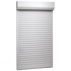 stradeXL Roleta zewnętrzna, aluminiowa, 100 x 210 cm, biała