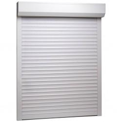 stradeXL Roleta zewnętrzna, aluminiowa, 110 x 130 cm, biała