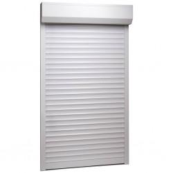 stradeXL Roleta zewnętrzna, aluminiowa, 110 x 220 cm, biała