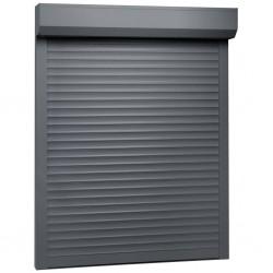 stradeXL Roleta zewnętrzna, aluminiowa, 130 x 140 cm, antracytowa