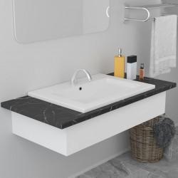 stradeXL Umywalka wpuszczana, 61 x 39,5 x 18,5 cm, ceramiczna, biała