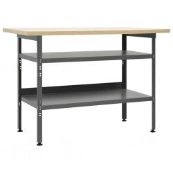 stradeXL Stół roboczy, szary, 120 x 60 x 85 cm, stal