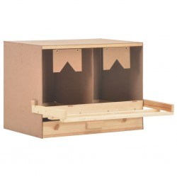 stradeXL Chicken Laying Nest 2 Compartments 63x40x45 cm Solid Pine Wood