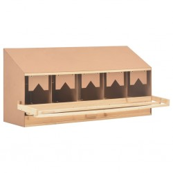 stradeXL Chicken Laying Nest 5 Compartments 117x33x54 cm Solid Pine Wood