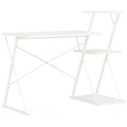stradeXL Biurko z półką, białe, 116x50x93 cm