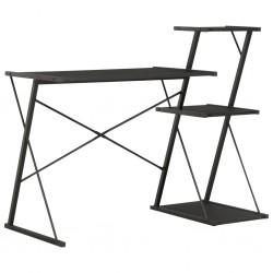 stradeXL Biurko z półką, czarne, 116x50x93 cm