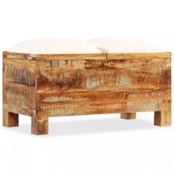 stradeXL Skrzynia z siedziskiem, lite drewno odzyskane, 80 x 40 x 40 cm