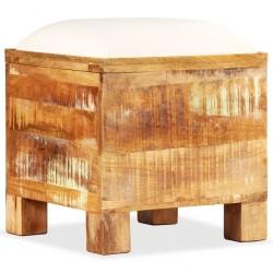 stradeXL Skrzynia z siedziskiem, lite drewno odzyskane, 40 x 40 x 45 cm