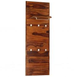 stradeXL Coat Rack Solid Sheesham Wood 118x40 cm