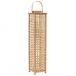 stradeXL Hanging Candle Lantern Holder Bamboo Natural