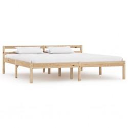 stradeXL Rama łóżka, lite drewno sosnowe, 160 x 200 cm