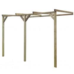 stradeXL Pergola przyścienna, 2 x 3 x 2,2 m, drewno