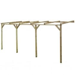 stradeXL Pergola przyścienna, 2 x 5 x 2,2 m, drewno