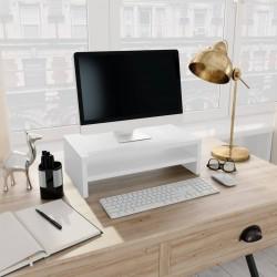 stradeXL Podstawka pod monitor, biała, 42x24x13 cm, płyta wiórowa