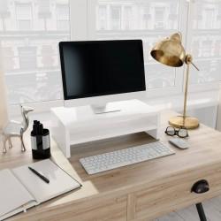 stradeXL Podstawka pod monitor, wysoki połysk, biały, 42x24x13 cm