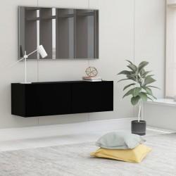 stradeXL Szafka pod telewizor, czarna, 100x30x30 cm, płyta wiórowa