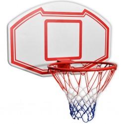 stradeXL Zestaw do koszykówki do montażu na ścianę, 3 elementy, 90x60 cm