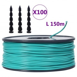 stradeXL Boundary Wire 150m for Robotic Lawnmower with 100 Pegs