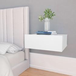 stradeXL Wisząca szafka nocna, biała, 40x30x15 cm