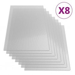 stradeXL Płyty poliwęglanowe, 8 szt., 4 mm, 121x60 cm