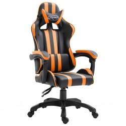 stradeXL Fotel dla gracza, pomarańczowy, sztuczna skóra