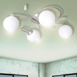Lampa sufitowa z akrylowymi kryształowymi liśćmi bezbarwna 4 x G9