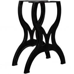 stradeXL Nogi do stołu jadalnianego, 2 szt., kształt litery X, żeliwo
