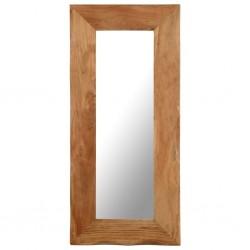 stradeXL Lustro kosmetyczne, 50x110 cm, lite drewno akacjowe