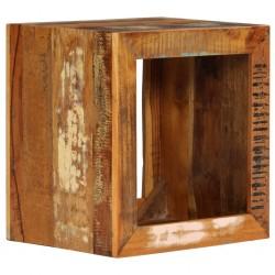 stradeXL Stołek, 40x30x40 cm, lite drewno z odzysku