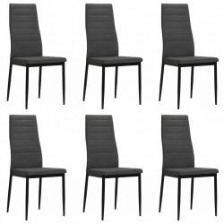 stradeXL Krzesła stołowe, 6 szt., ciemnoszare, tkanina