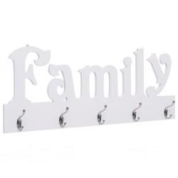 stradeXL Wall Mounted Coat Rack FAMILY 74x29.5 cm