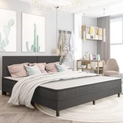 stradeXL Rama łóżka, szara, tapicerowana tkaniną, 200 x 200 cm